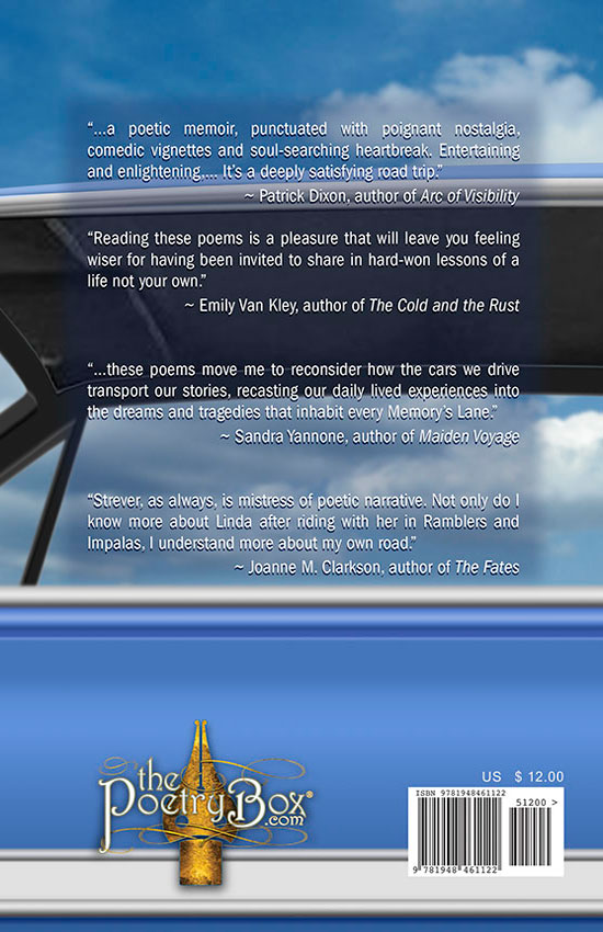 Back Cover of My Life in Cars by Linda Strever