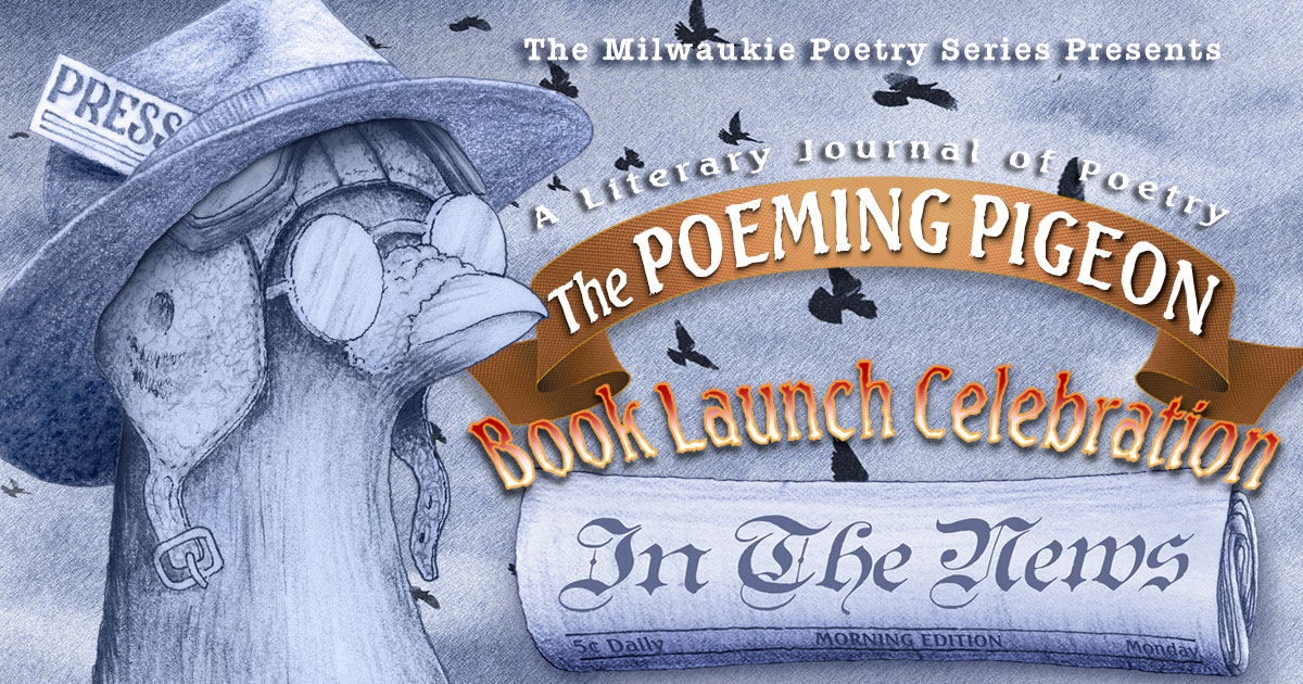 The Poeming Pigeon: In the News Book Launch Facebook Header