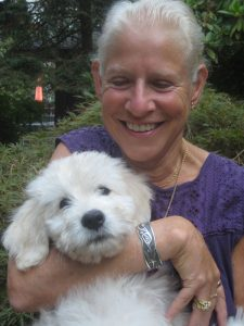 Author: Penelope Scambly Schott with dog
