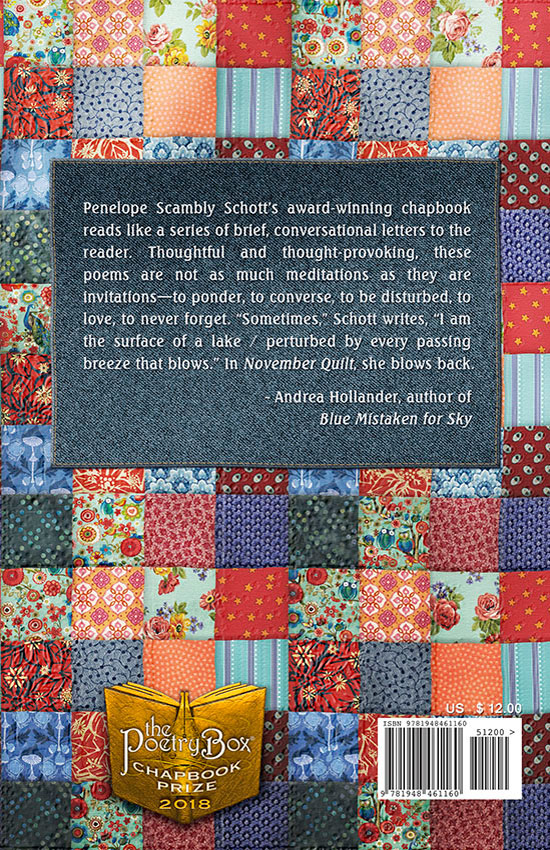 Book Cover (back) of November Quilt