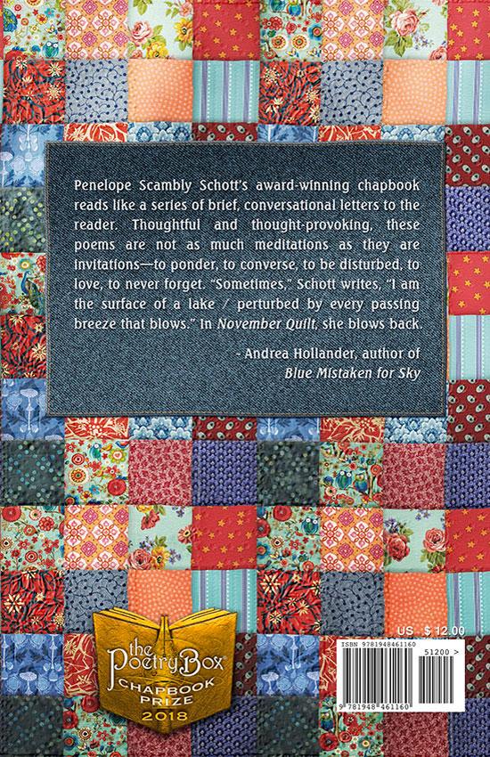 Book Cover (back) of November Quilt