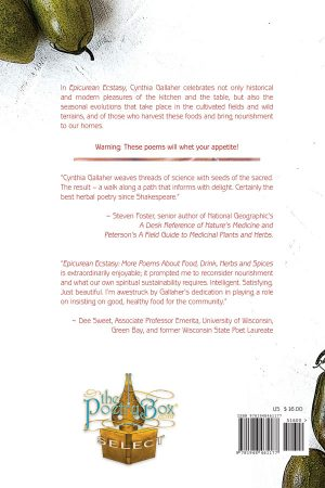 Book Cover (Back) Epicurean Ecstasy by Cynthia Gallaher