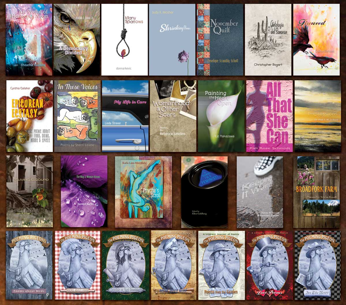 Collection of Books designed and published by The Poetry Box®