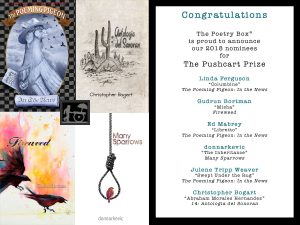 Pushcart 2018 Nominees Announcment from The Poetry Box