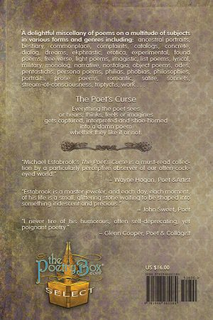 Back Cover The Poet's Curse by Michael Estabrook