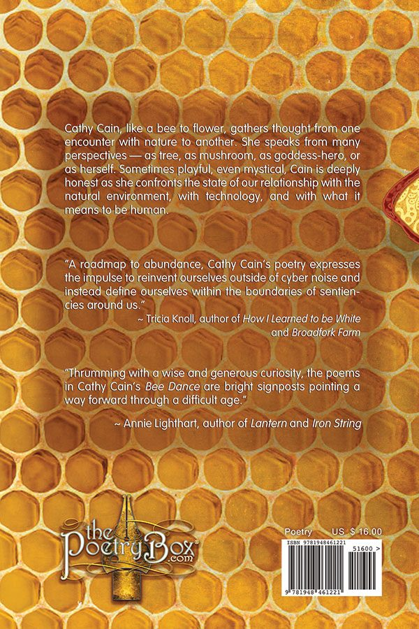 Back Book Cover, Bee Dance by Cathy Cain