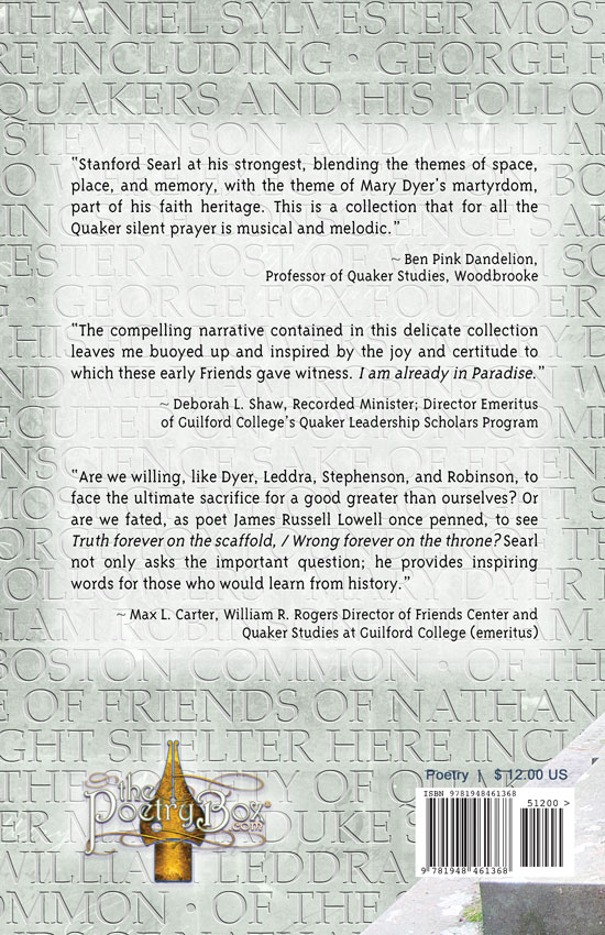 Back Cover: Mary Dyer's Hymn & Other Quaker Poems