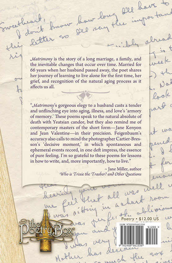Book Cover (back) Matrimony