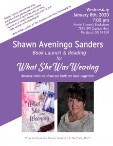 "Book Launch for ""What She Was Wearing"" - Jan 8"