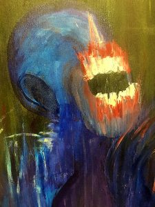 """The Screaming Darkness"" painting © James Picard"