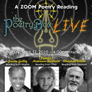 The Poetry Box LIVE - lineup for Sept 2020 show