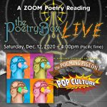 Graphics for The Poetry Box LIVE--December--book launch for The Poeming Pigeon
