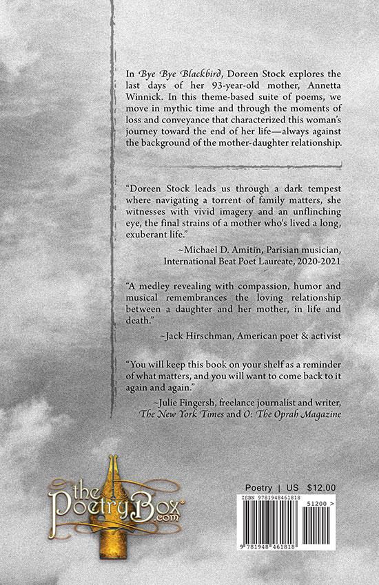 Back Cover of Bye Bye Blackbird, designed by Robert R. Sanders