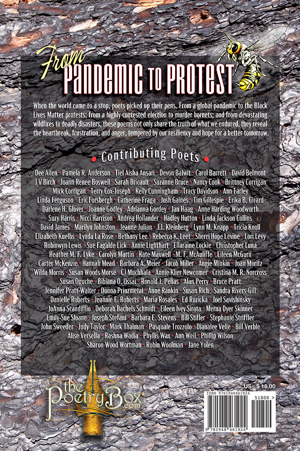 back book cover of The Poeming Pigeon: From Pandemic to Protest