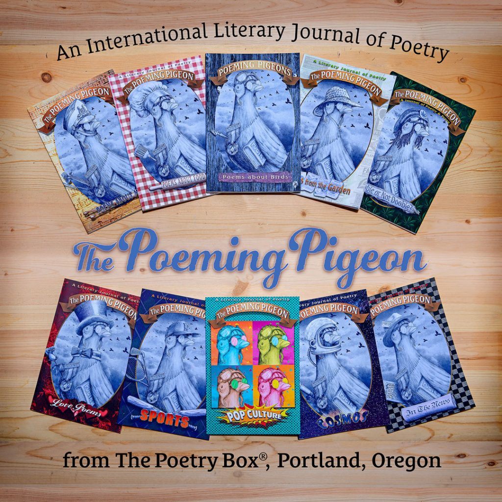 The first ten issues of The Poeming Pigeon